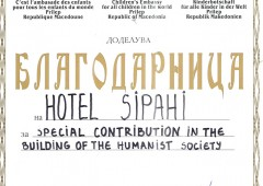 Special contribution in the building of the humanist society